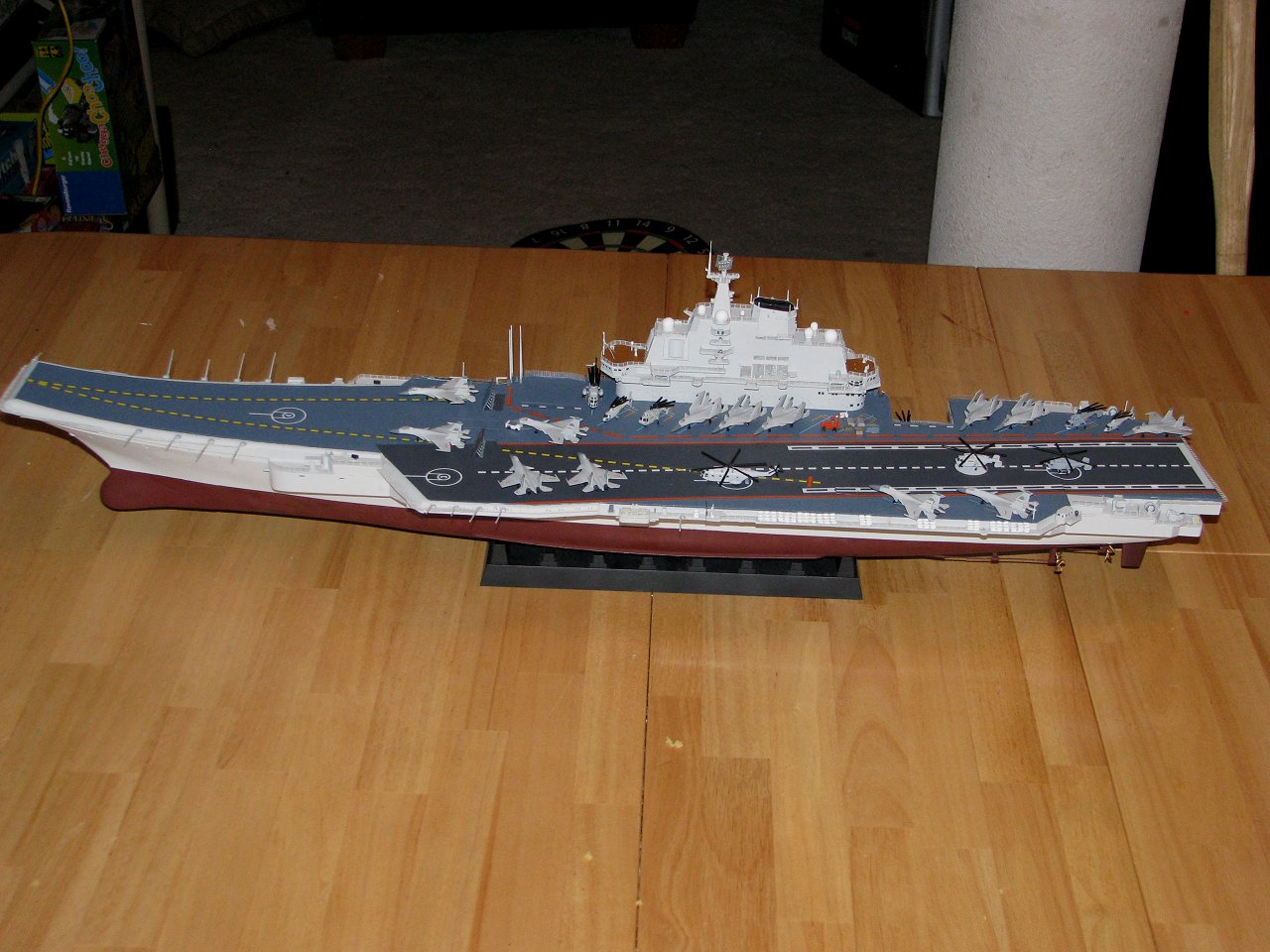 Aircraft carrier models large scale - Pla Aircraft Carrier Modified To Commissioned Appearance And Completed December 27