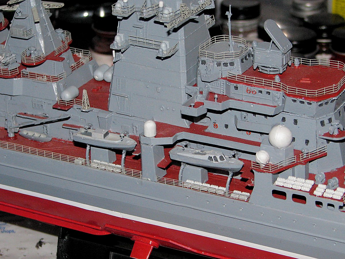 the vessel comes with four bladed propos which are not correct for the kirov class cruiser they have five blade props