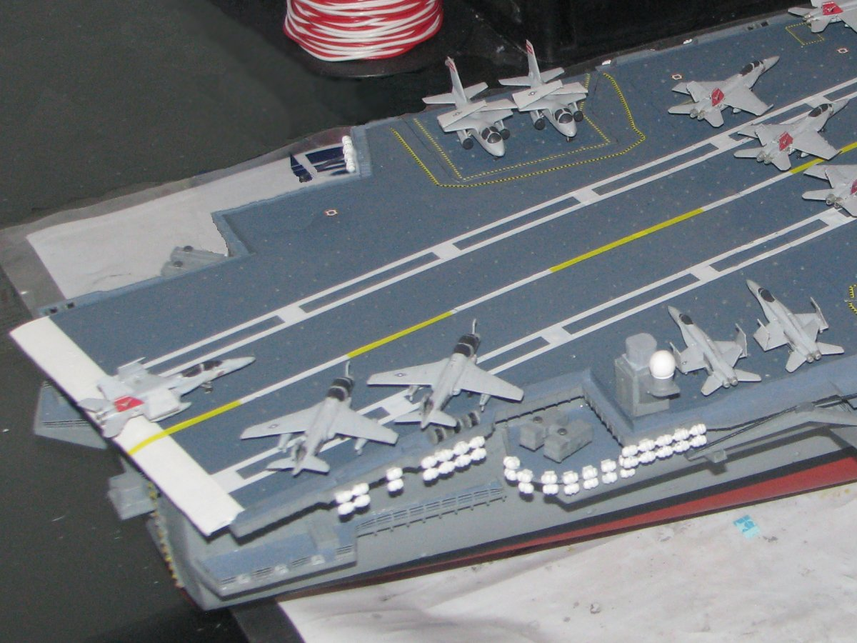 Aircraft carrier models large scale - And Here Are Three Pictures Of More Of The Overall Layout Of The Aircraft I Am Using Three Catapaults On Deck To Launch A Fairly Large Package Of Aew And