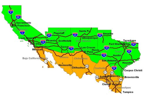 JEFFHEADCOM SOUTHERN BORDER ENFORCEMENT PROGRAM PROPOSAL - Us southern border map