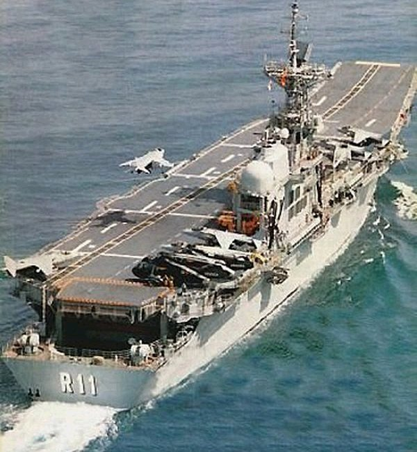 With its Spanish F100, AEGIS frigate escorts, the carrier ...Spanish Aircraft Carrier